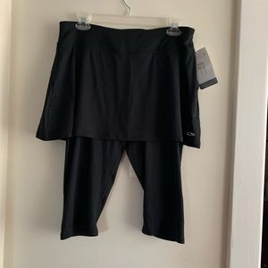 NWT Activewear skirt with attached Capri leggings